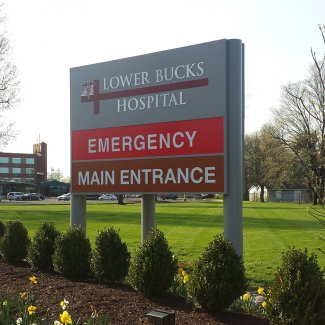 Lower Bucks Hospital Sign