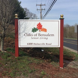 Oaks of Bensalem Senior Living sign