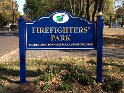 Middletown Firefighters' Park Carved Panel