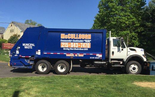 McCullough dump truck lettering